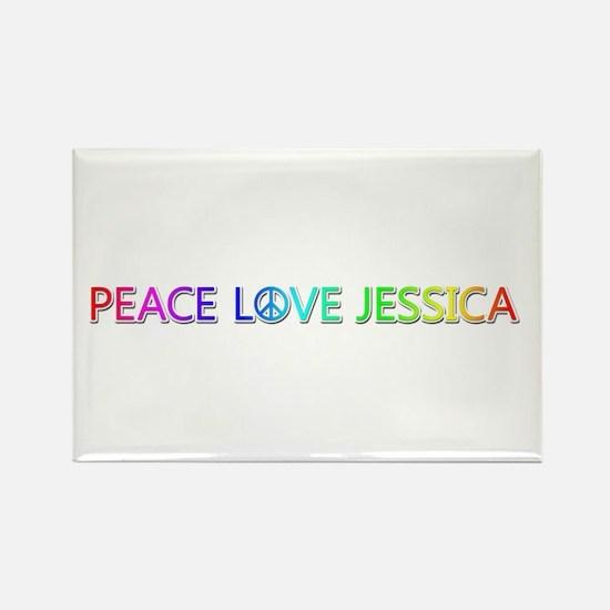 Peace Love Jessica Rectangle Magnet