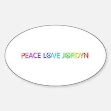 Peace Love Jordyn Oval Decal