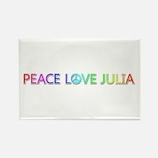 Peace Love Julia Rectangle Magnet