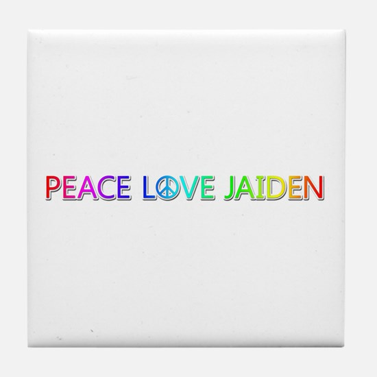 Peace Love Jaiden Tile Coaster