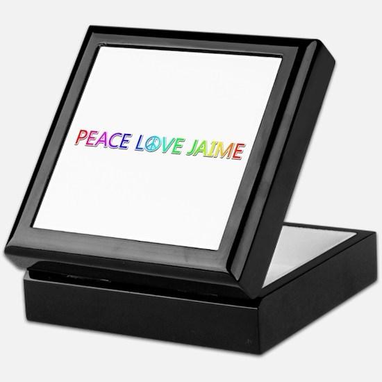 Peace Love Jaime Keepsake Box