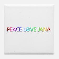 Peace Love Jana Tile Coaster