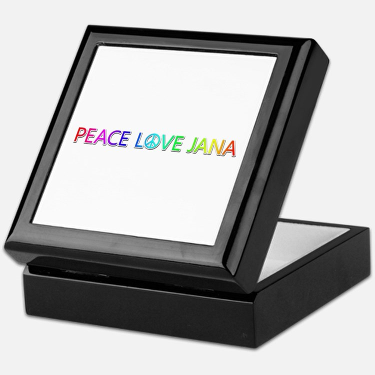 Peace Love Jana Keepsake Box