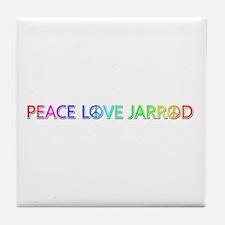 Peace Love Jarrod Tile Coaster