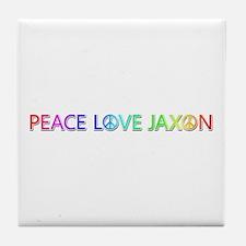 Peace Love Jaxon Tile Coaster