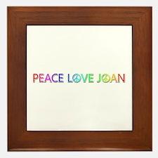 Peace Love Joan Framed Tile