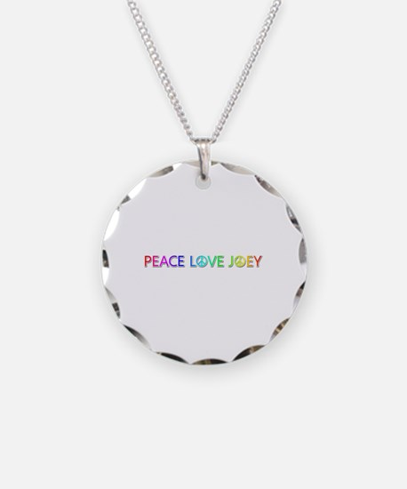 Peace Love Joey Necklace Circle Charm