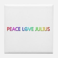Peace Love Julius Tile Coaster