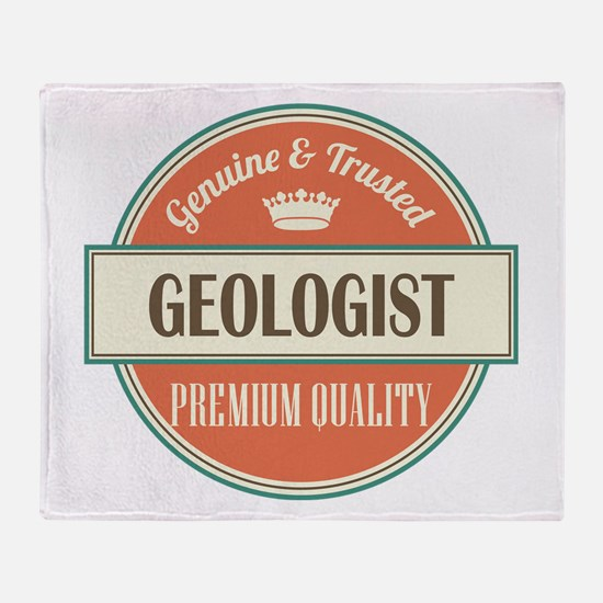 geologist vintage logo Throw Blanket