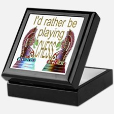 I'd Rather Play Chess - Keepsake Box