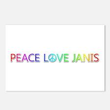 Peace Love Janis Postcards 8 Pack