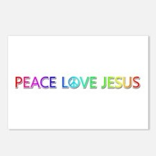 Peace Love Jesus Postcards 8 Pack
