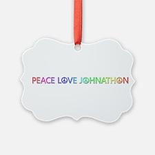 Peace Love Johnathon Ornament