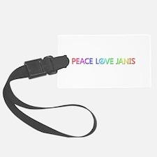 Peace Love Janis Luggage Tag