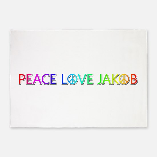 Peace Love Jakob 5'x7' Area Rug