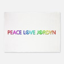 Peace Love Jordyn 5'x7' Area Rug