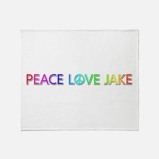 Peace Love Jake Throw Blanket