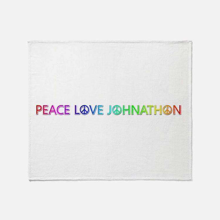 Peace Love Johnathon Throw Blanket