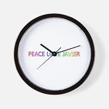 Peace Love Javier Wall Clock