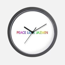 Peace Love Jazmin Wall Clock