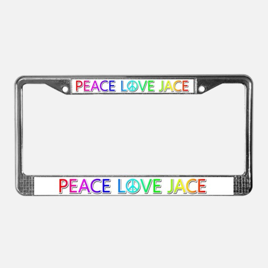 Peace Love Jace License Plate Frame