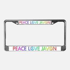 Peace Love Javon License Plate Frame