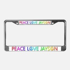 Peace Love Jayson License Plate Frame