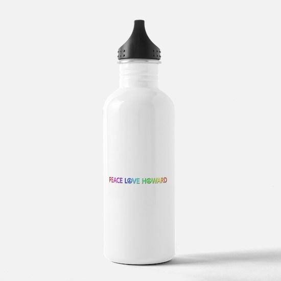 Peace Love Howard Water Bottle