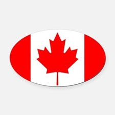 canada-flag.png Oval Car Magnet
