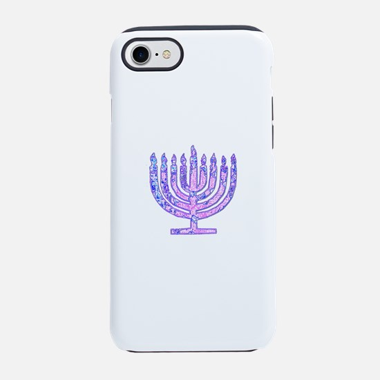 Pink Blue Vibrant Hanukkah M iPhone 8/7 Tough Case