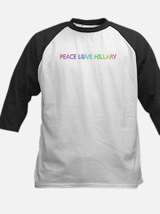 Peace Love Hillary Baseball Jersey
