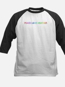 Peace Love Heather Baseball Jersey