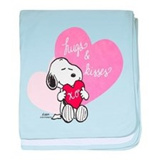 Snoopy - Hugs and Kisses baby blanket