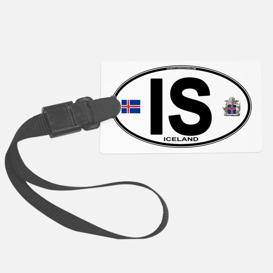 iceland-oval.png Luggage Tag