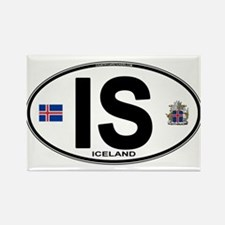 Iceland Euro Oval Magnets