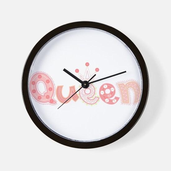 Queen Pastel Wall Clock