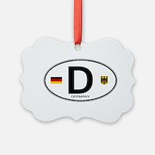 Germany D Deutchland Ornament