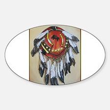 Native American Shield, Buffalo art Decal