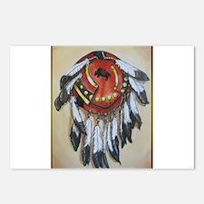 Native American Shield, Buffalo art Postcards (Pac