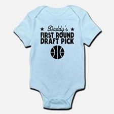 Daddys First Round Draft Pick Basketball Body Suit