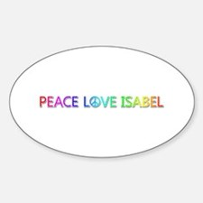 Peace Love Isabel Oval Decal