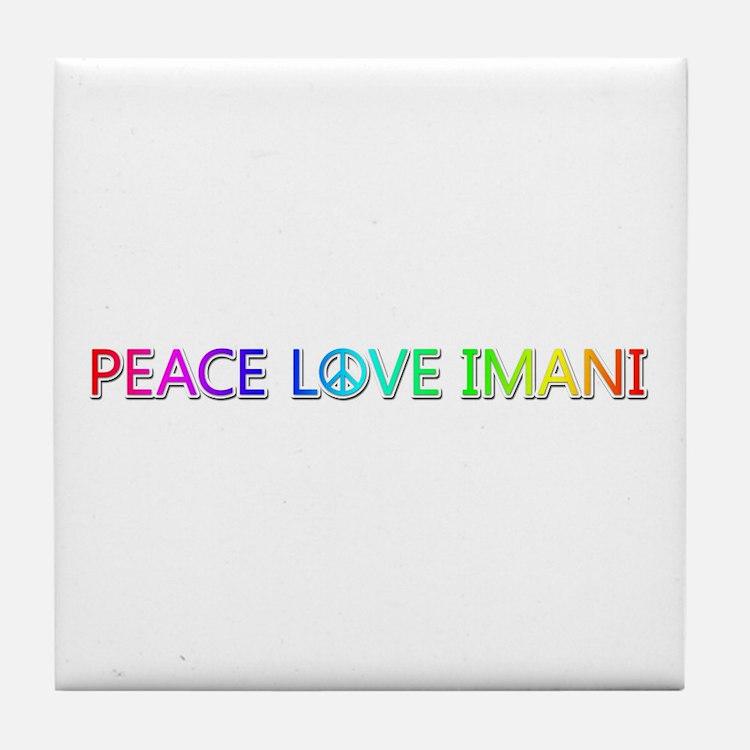 Peace Love Imani Tile Coaster