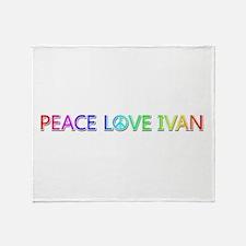 Peace Love Ivan Throw Blanket