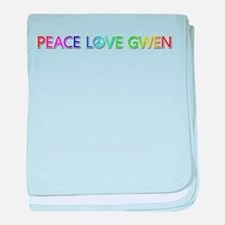 Peace Love Gwen baby blanket