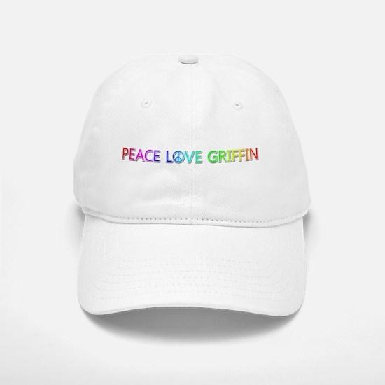 Peace Love Griffin Baseball Baseball Baseball Cap