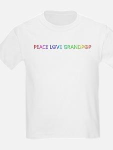 Peace Love Grandpop T-Shirt