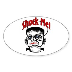 Shock Me! Oval Decal