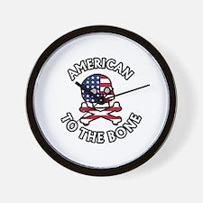 American To The Bone Wall Clock