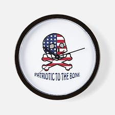 Patriotic To The Bone Wall Clock