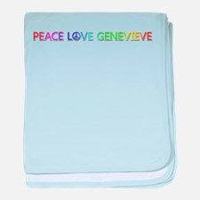 Peace Love Genevieve baby blanket